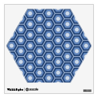 Navy Blue Hex Tiled Wall Decal
