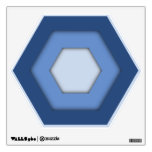 Navy Blue Hex Wall Decal