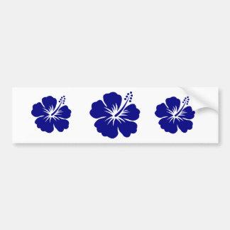 Navy blue hibiscus bumper sticker