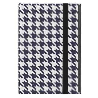 Navy Blue Houndstooth Case For iPad Mini