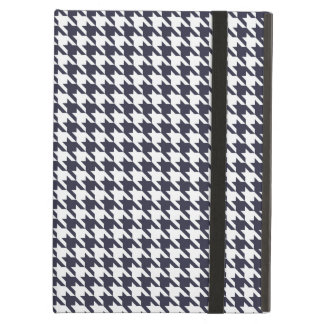 Navy Blue Houndstooth iPad Air Cover
