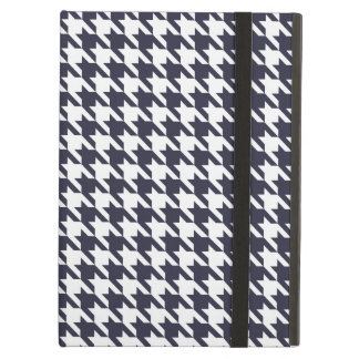 Navy Blue Houndstooth iPad Air Covers