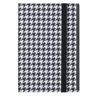 Navy Blue Houndstooth iPad Mini Cases