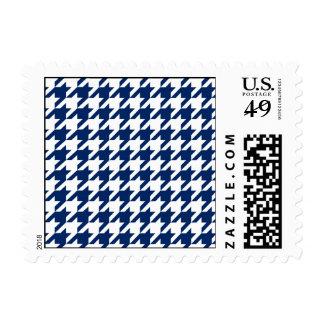 Navy Blue Houndstooth Postage