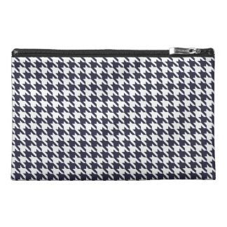 Navy Blue Houndstooth Travel Accessories Bags