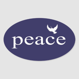 Navy Blue Inspirational Peace Quote Sticker