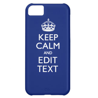 Navy Blue Keep Calm Have Your Text Personalized iPhone 5C Cover
