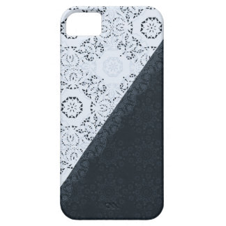 Navy Blue Lace Elegant and Sophisticated Design iPhone SE/5/5s Case