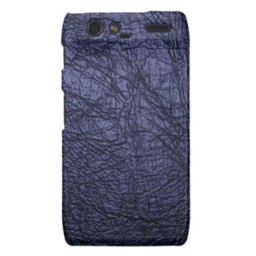navy blue leather texture motorola droid RAZR case