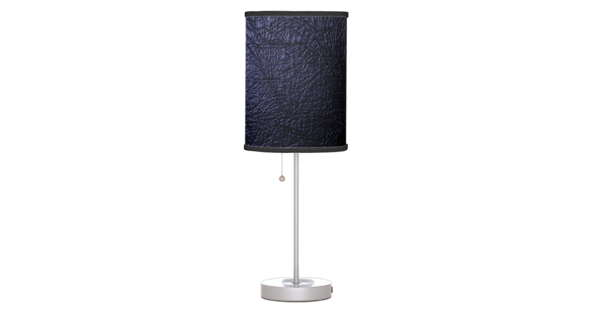 navy blue leather texture table lamp zazzle. Black Bedroom Furniture Sets. Home Design Ideas