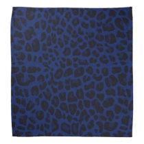 Navy blue leopard print bandana