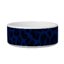 Navy blue leopard print bowl