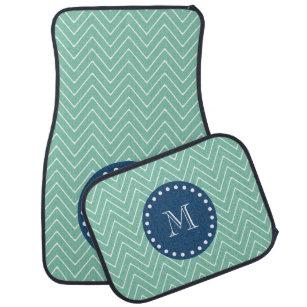 green car floor mats. Contemporary Car Navy Blue Mint Green Chevron Pattern  Your Monog Car Floor Mat Inside Mats