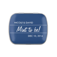 Navy Blue Mint To Be Wedding Celebration Favor Jelly Belly Tins at Zazzle