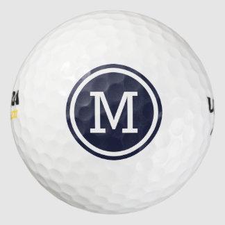 Navy Blue Monogram Personalized Golf Balls