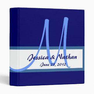 Navy Blue Monogram Wedding Planner Photo Binder