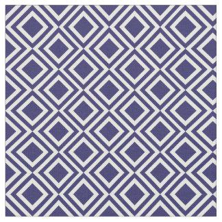 Blue Diamond Pattern Fabric | Zazzle