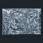 "Navy Blue Nature Abstract Pattern Hand Towel<br><div class=""desc"">.</div>"
