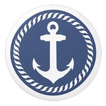 Navy Blue Nautical Anchor Drawer Knob