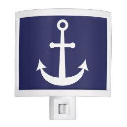 Navy Blue Nautical Anchor Night Light