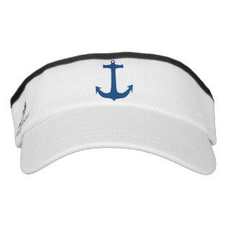 Navy Blue Nautical Anchor Sport Sun Visor