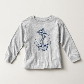 Navy Blue Nautical Boat Anchor 7 Toddler T-shirt
