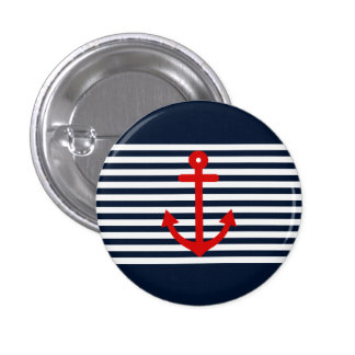 Navy Blue Nautical Button