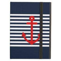 Navy Blue Nautical Case For iPad Air