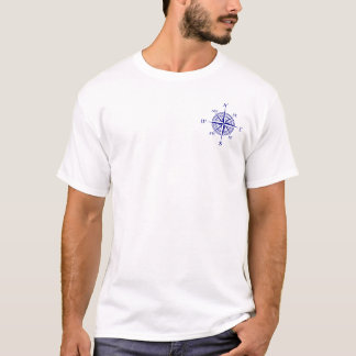 Navy Blue Nautical Compass Rose T-Shirt