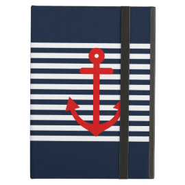 Navy Blue Nautical iPad Cover