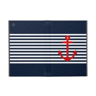 Navy Blue Nautical iPad Mini Cover