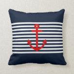 Navy Blue Nautical Pillows