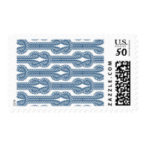 Navy Blue Nautical Rope Repeating Pattern Stamp