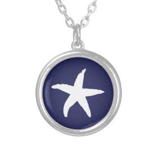 Navy Blue Nautical Sea Star Pendant