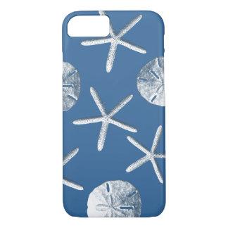 Navy Blue Nautical Seashells iPhone 7 case