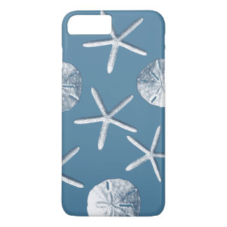 Navy Blue Nautical Seashells iPhone 7 Plus Case