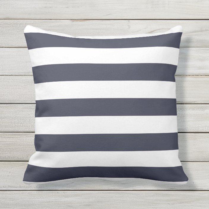 Navy Blue Nautical Stripes Outdoor