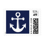 Navy Blue Nautical Wedding Stamps Stamps