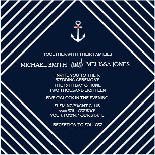 Yacht Wedding Invitations