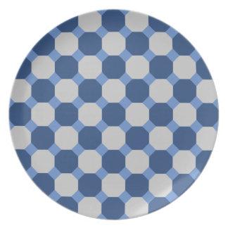Navy Blue Octagon Plate