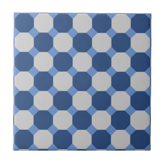 Navy Blue Octagon Tile