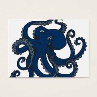 Navy Blue Octopus Business Card