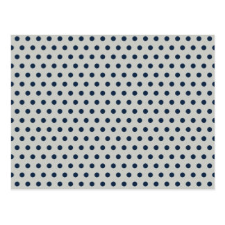 Navy Blue on Gray Tiny Little Polka Dots Pattern Postcard