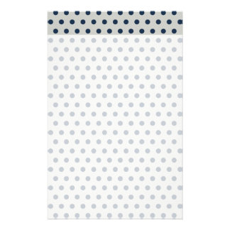 Navy Blue on Gray Tiny Little Polka Dots Pattern Stationery