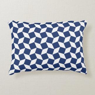 Navy Blue Op Art Pattern Accent Pillow