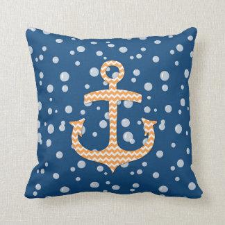 Navy And Orange Pillows - Decorative & Throw Pillows Zazzle