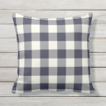 "Navy Blue Outdoor Pillows - Gingham Pattern<br><div class=""desc"">Navy Blue gingham pillows for outdoors. Made in the USA. High quality twill pattern print in vibrant colors. UV and mildew resistant garden or patio pillows with a gingham or buffalo check pattern. Available in 16 or 20 inch square and 13 by 21 rectangular sizes. Insert included. (Also available as...</div>"
