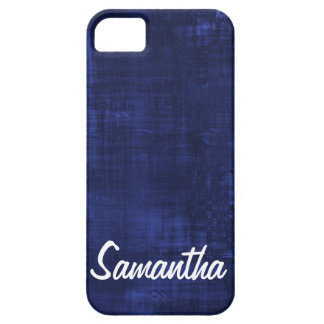 Navy Blue Paint lines Solid Color Personalized iPhone SE/5/5s Case