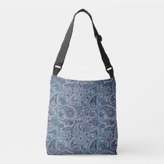 Navy Blue Paisley Crossbody Purse Crossbody Bag