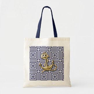 Navy Blue pattern anchor nautical bride Bags